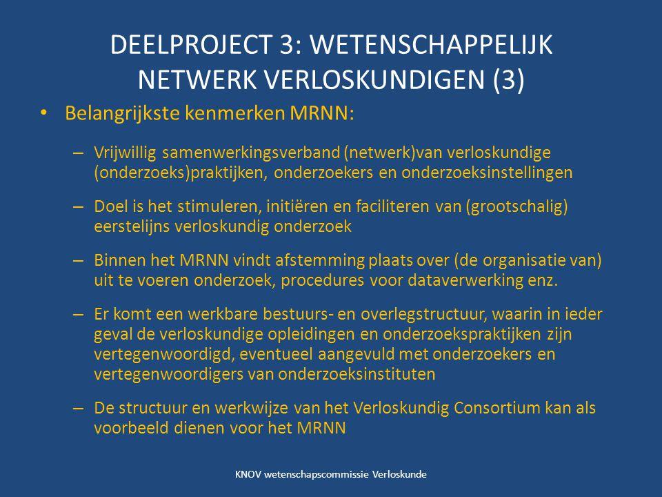 DEELPROJECT 3: WETENSCHAPPELIJK NETWERK VERLOSKUNDIGEN (3)