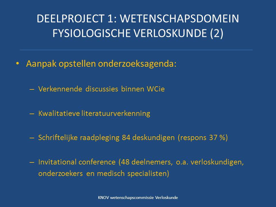 DEELPROJECT 1: WETENSCHAPSDOMEIN FYSIOLOGISCHE VERLOSKUNDE (2)