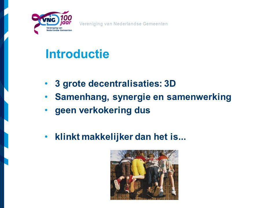 Introductie 3 grote decentralisaties: 3D