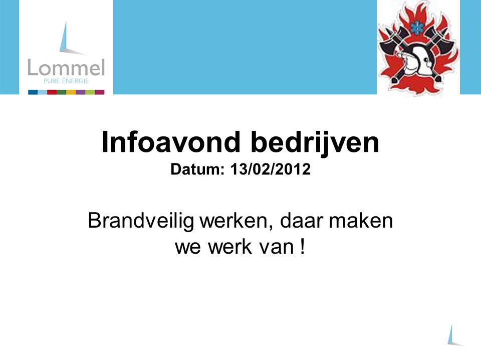 Infoavond bedrijven Datum: 13/02/2012