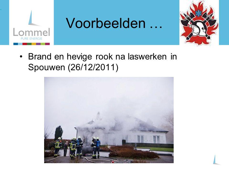 Brand en hevige rook na laswerken in Spouwen