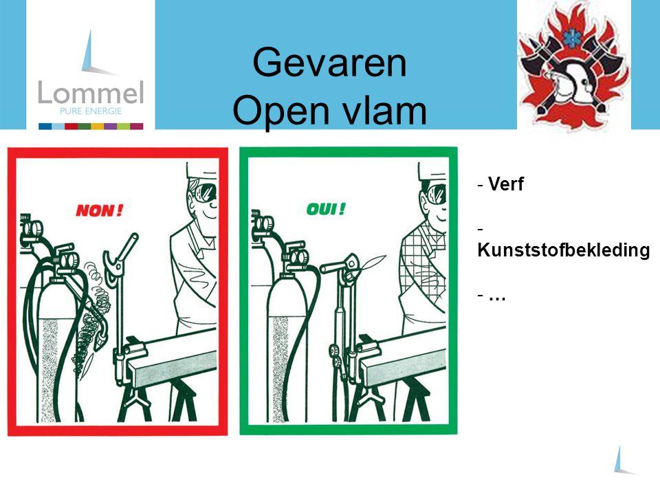 Gevaren Open vlam Verf Kunststofbekleding …