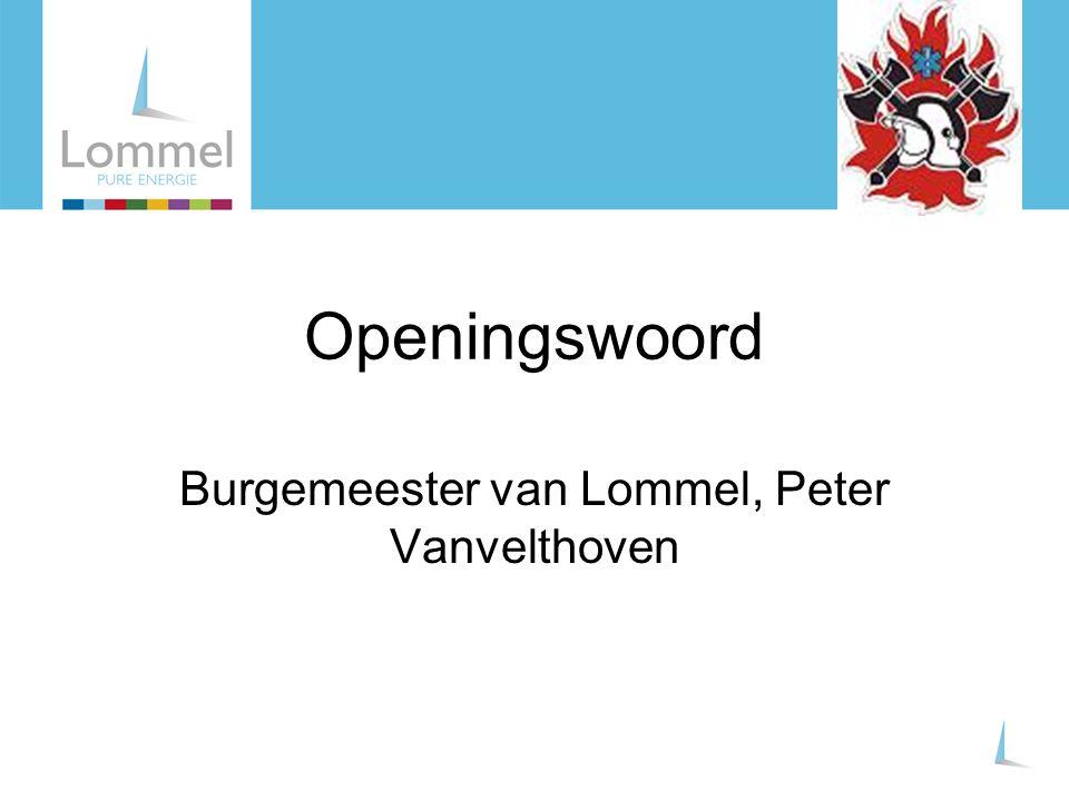 Burgemeester van Lommel, Peter Vanvelthoven