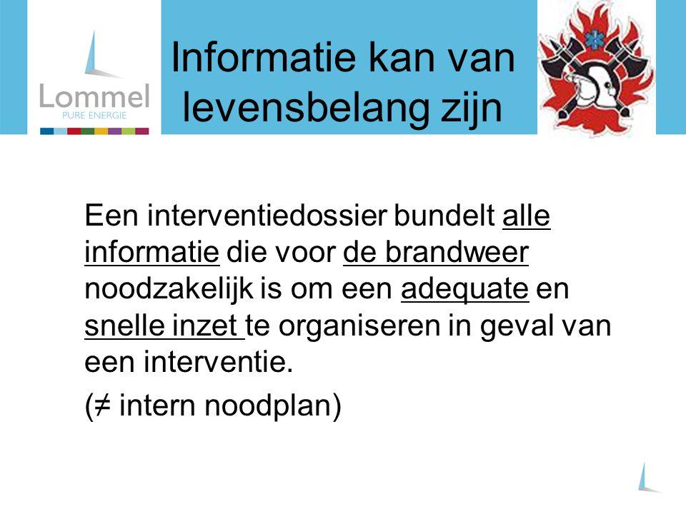 Informatie kan van levensbelang zijn