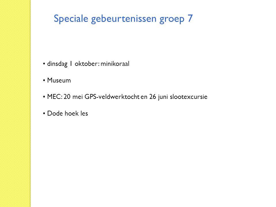 Speciale gebeurtenissen groep 7