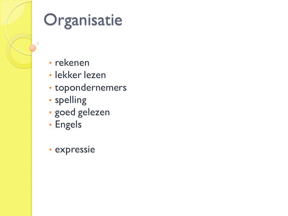 Organisatie rekenen lekker lezen topondernemers spelling goed gelezen
