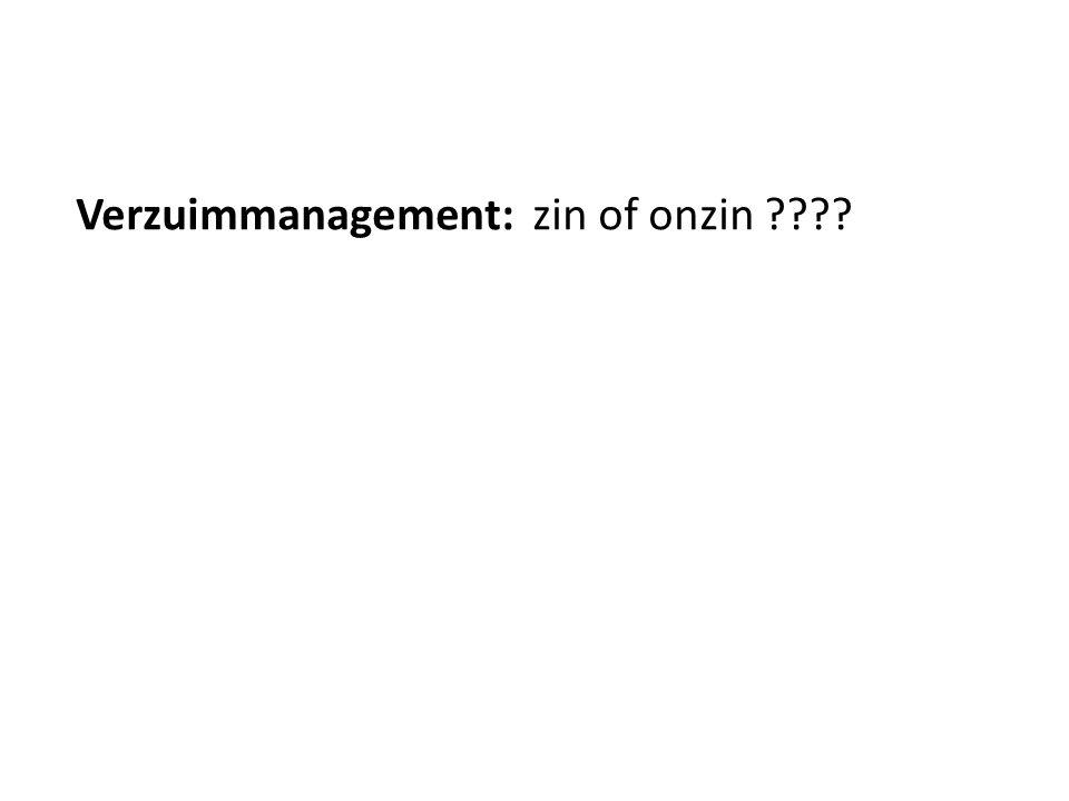 Verzuimmanagement: zin of onzin