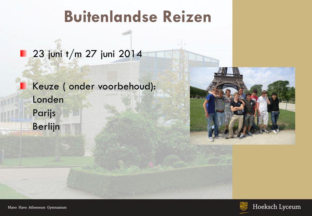 Buitenlandse Reizen 23 juni t/m 27 juni 2014