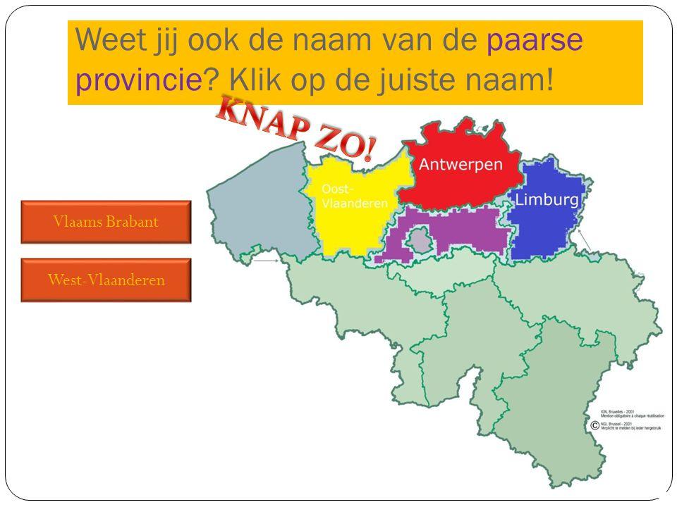 Weet jij ook de naam van de paarse provincie Klik op de juiste naam!
