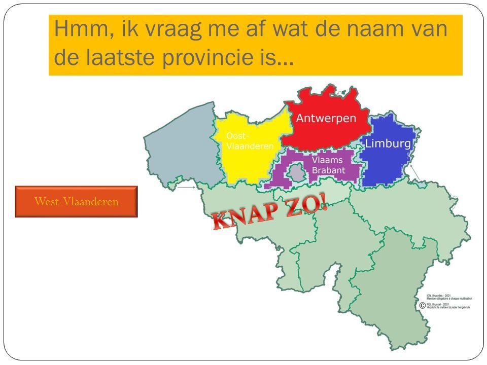 Hmm, ik vraag me af wat de naam van de laatste provincie is…
