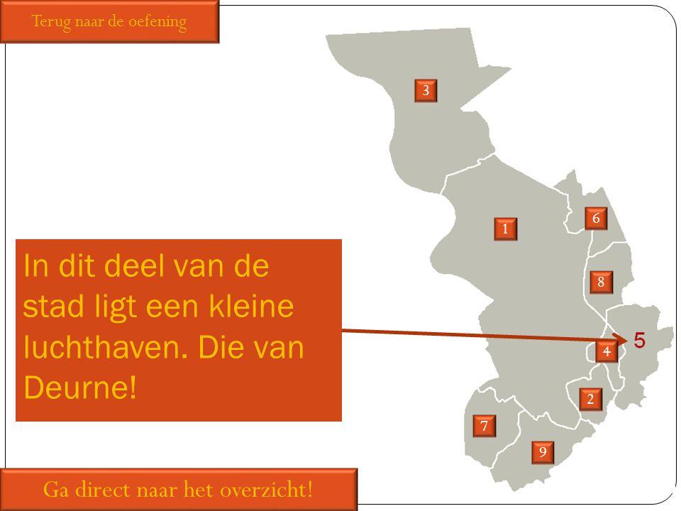 In dit deel van de stad ligt een kleine luchthaven. Die van Deurne!