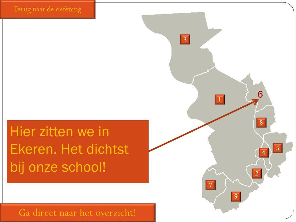 Hier zitten we in Ekeren. Het dichtst bij onze school!