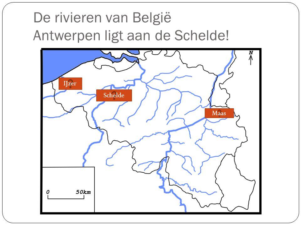 De rivieren van België Antwerpen ligt aan de Schelde!