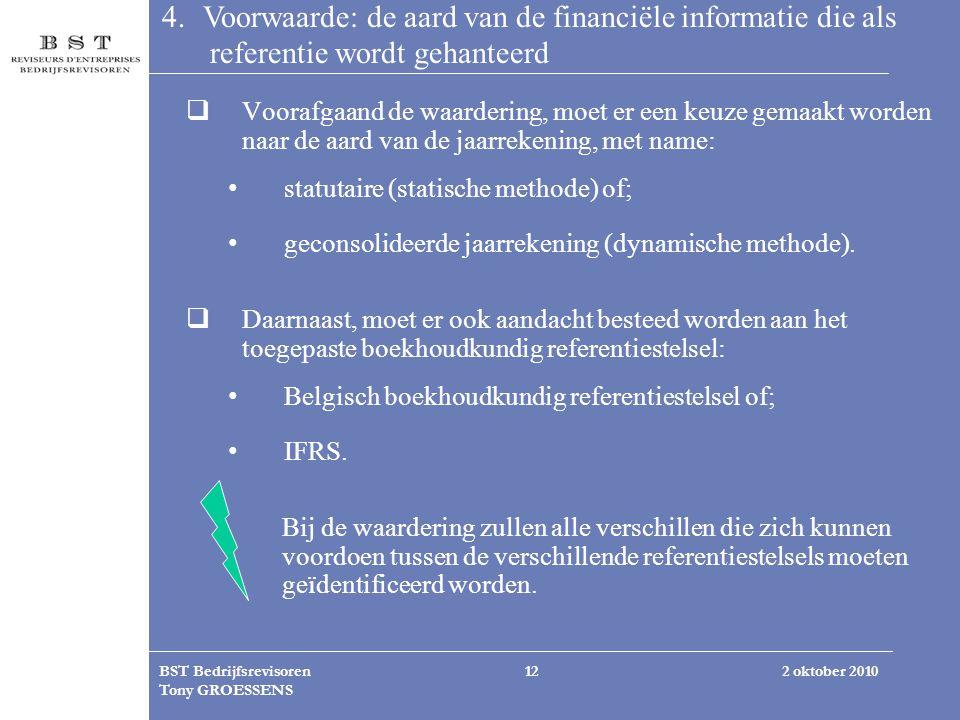 4. Voorwaarde: de aard van de financiële informatie die als referentie wordt gehanteerd