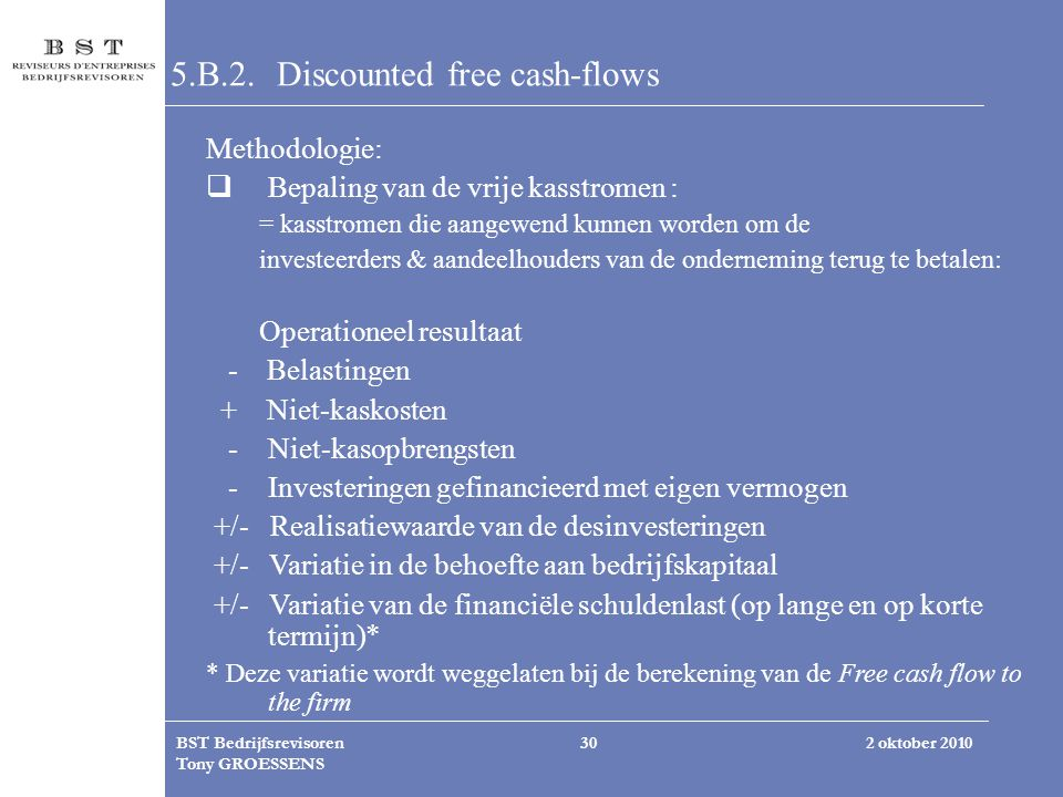 5.B.2. Discounted free cash-flows