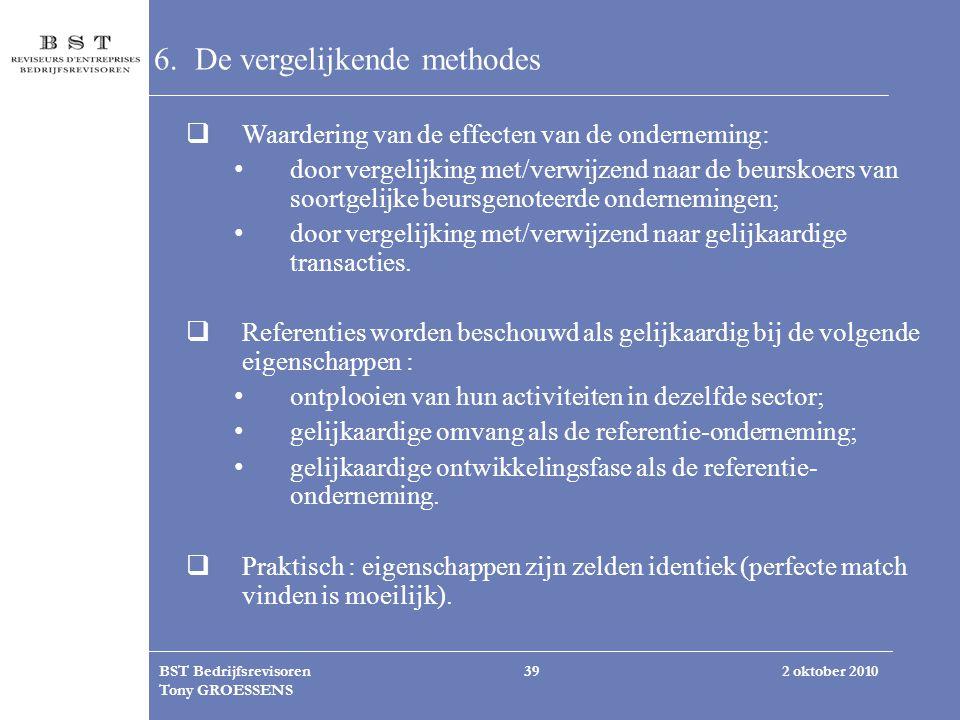 6. De vergelijkende methodes