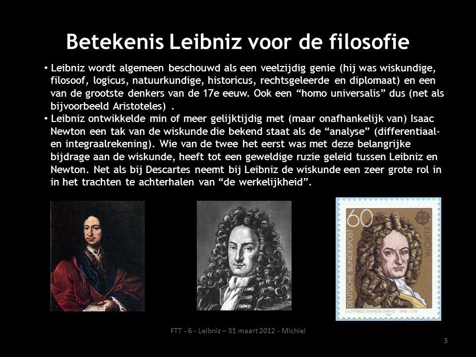 Betekenis Leibniz voor de filosofie