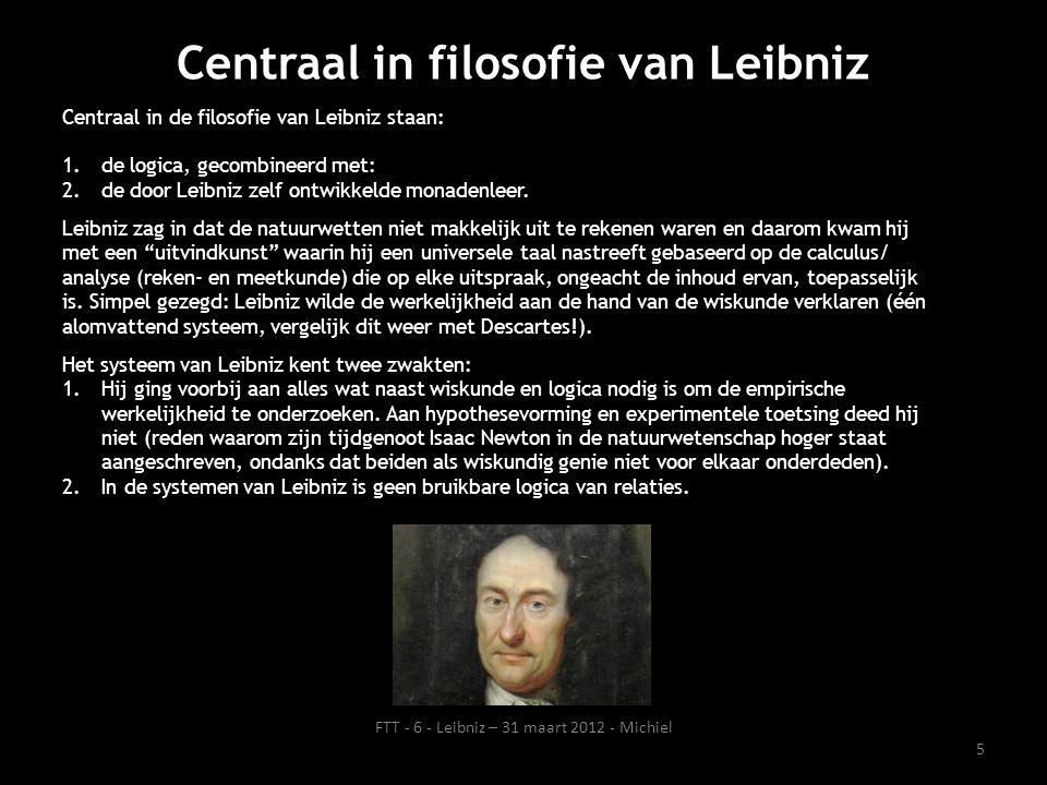 Centraal in filosofie van Leibniz