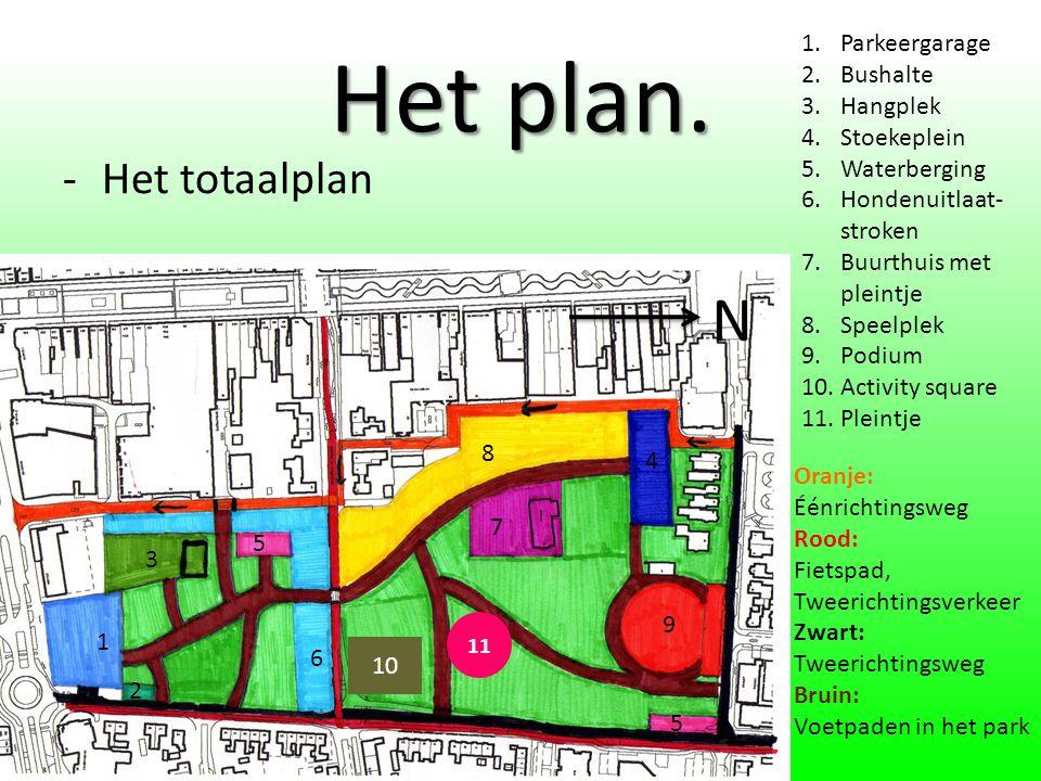 Het plan. N Het totaalplan Parkeergarage Bushalte Hangplek Stoekeplein