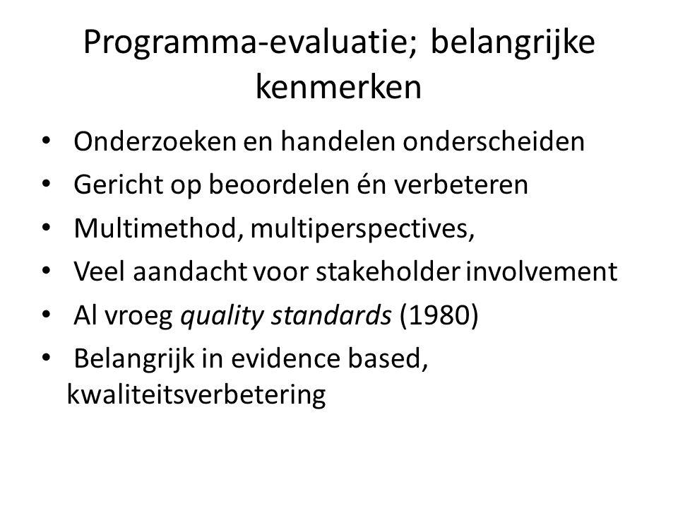 Programma-evaluatie; belangrijke kenmerken