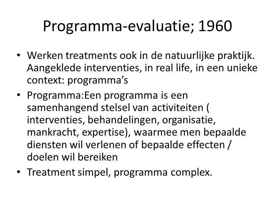 Programma-evaluatie; 1960