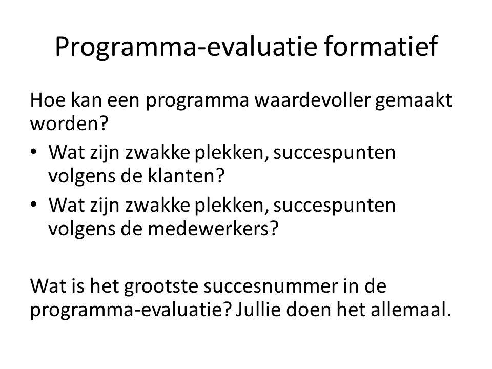 Programma-evaluatie formatief