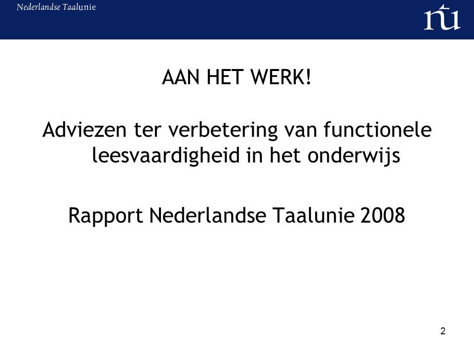 Rapport Nederlandse Taalunie 2008