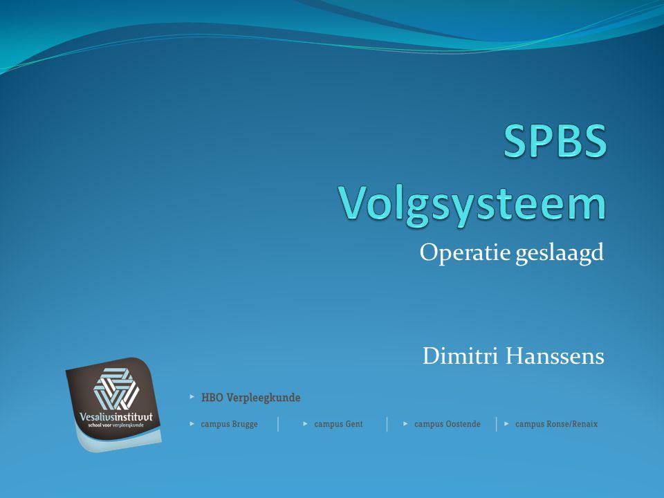 Operatie geslaagd Dimitri Hanssens