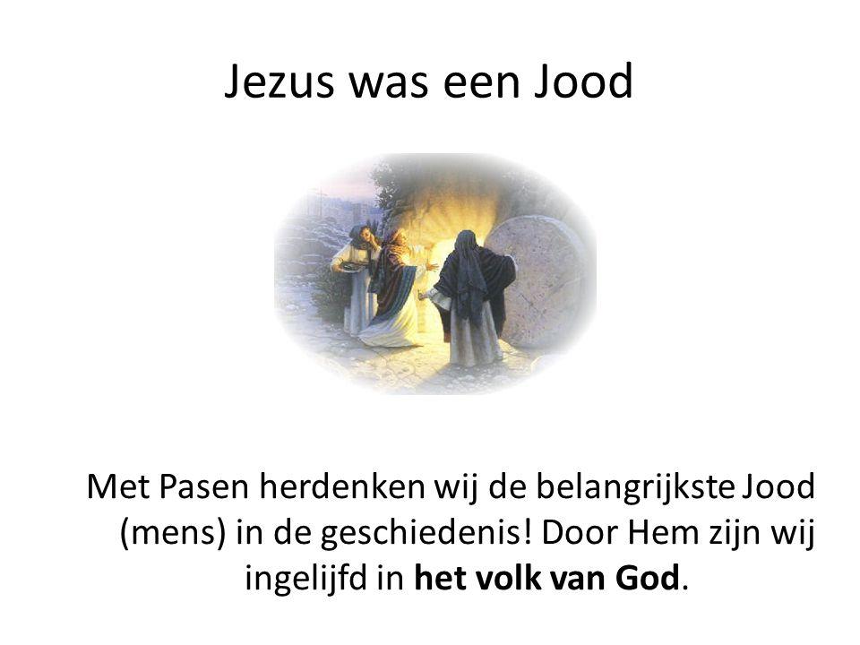 Jezus was een Jood Met Pasen herdenken wij de belangrijkste Jood (mens) in de geschiedenis.
