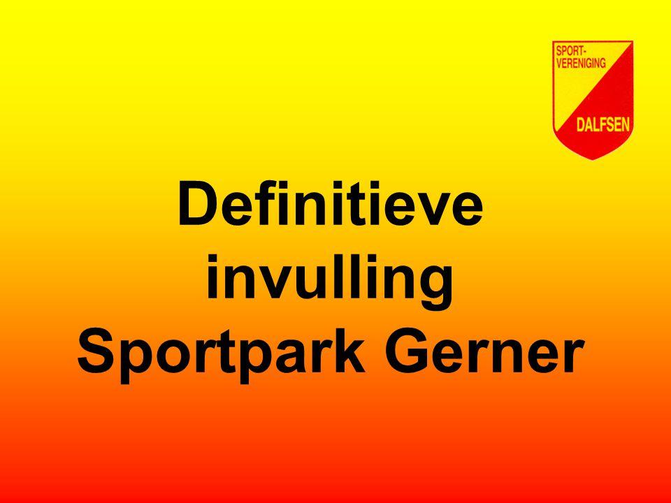 Definitieve invulling Sportpark Gerner