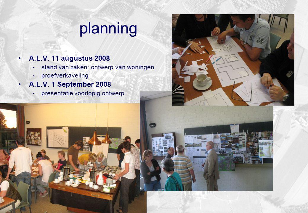 planning A.L.V. 11 augustus 2008 A.L.V. 1 September 2008