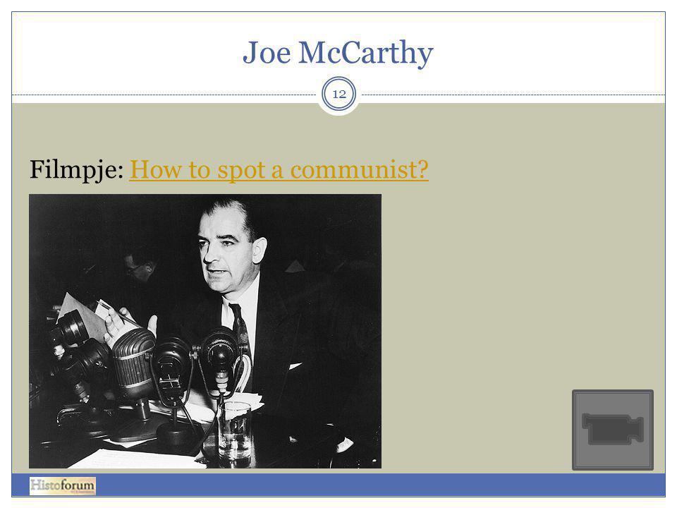 Joe McCarthy Filmpje: How to spot a communist