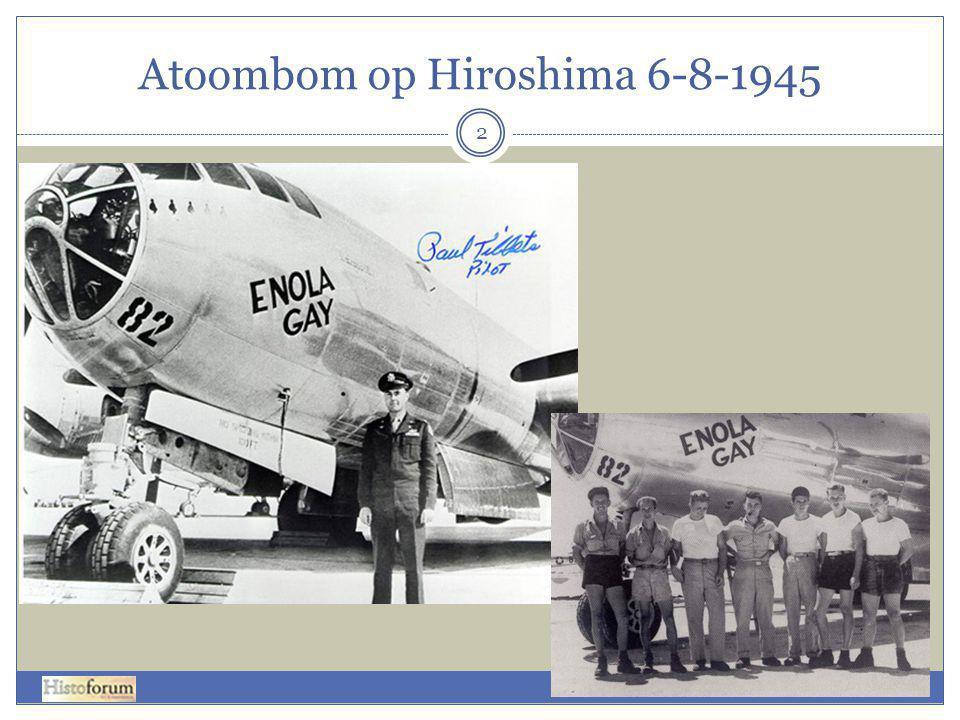 Atoombom op Hiroshima 6-8-1945