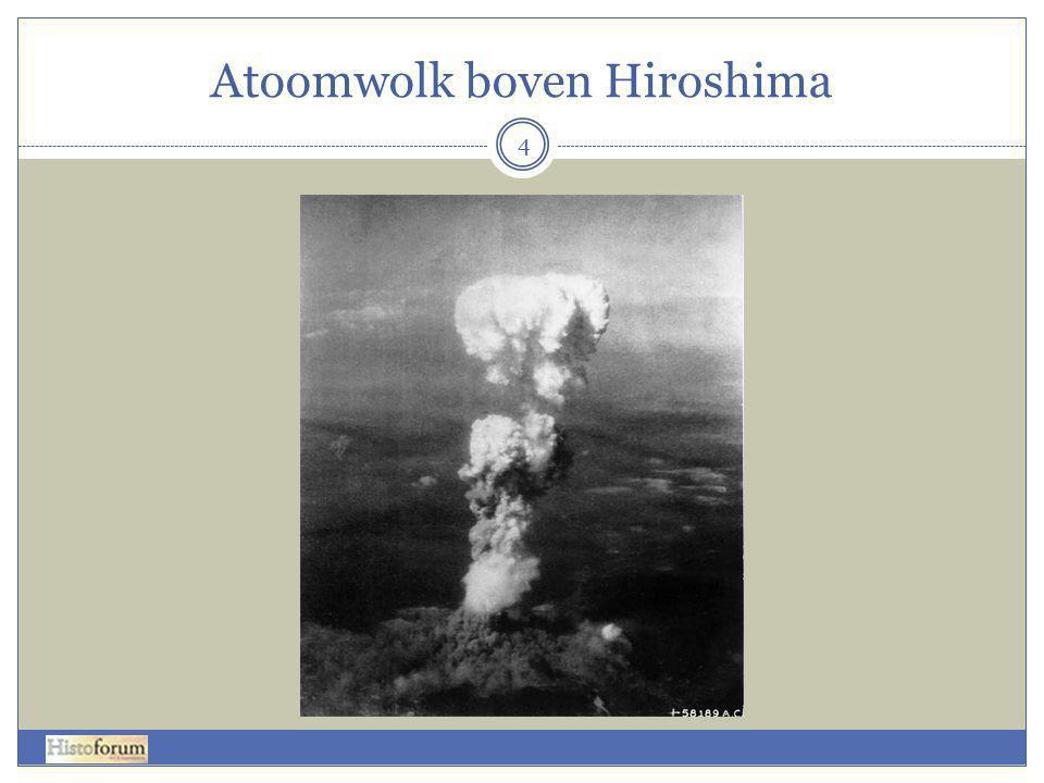 Atoomwolk boven Hiroshima