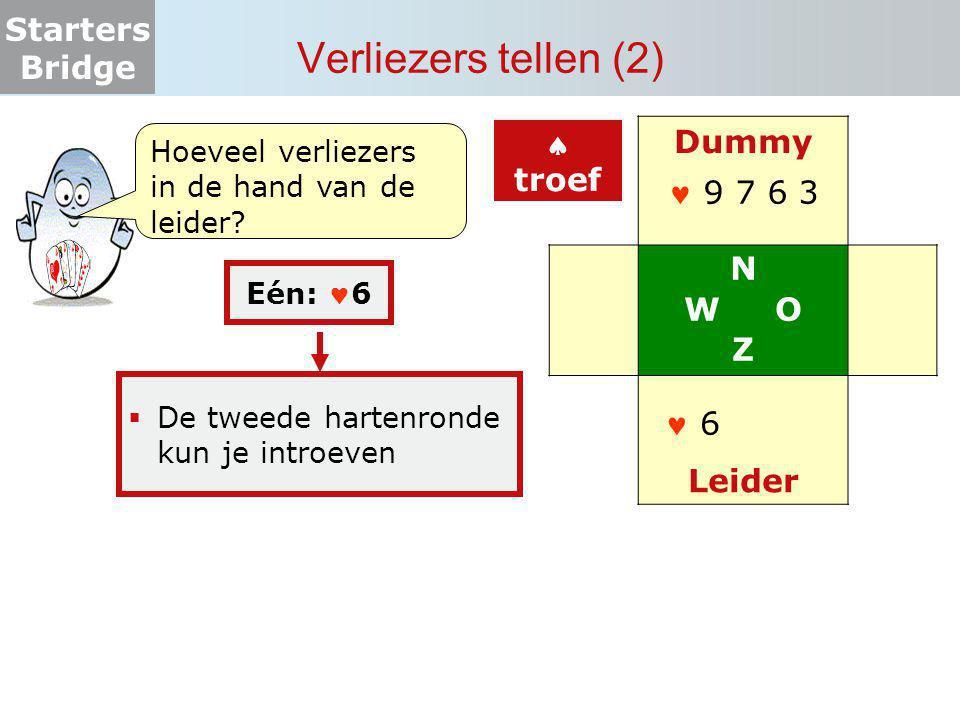Verliezers tellen (2) Dummy N W O Z Leider  troef  9 7 6 3  6