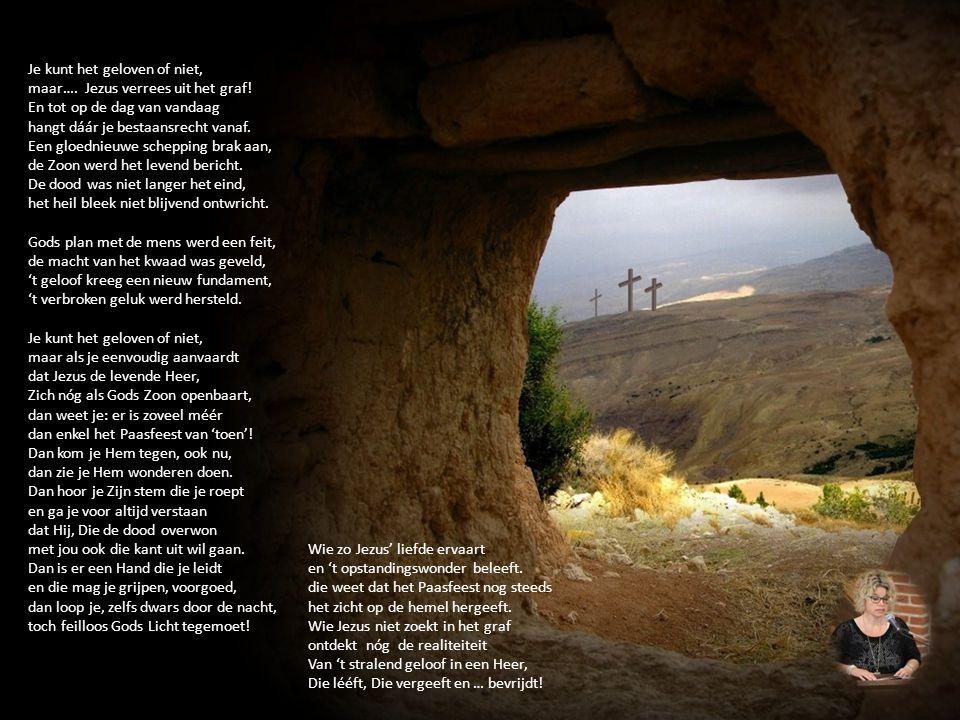 Je kunt het geloven of niet, maar…. Jezus verrees uit het graf