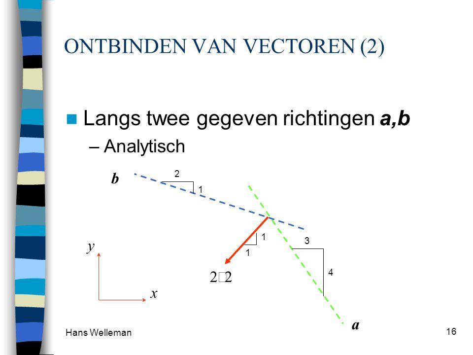 ONTBINDEN VAN VECTOREN (2)