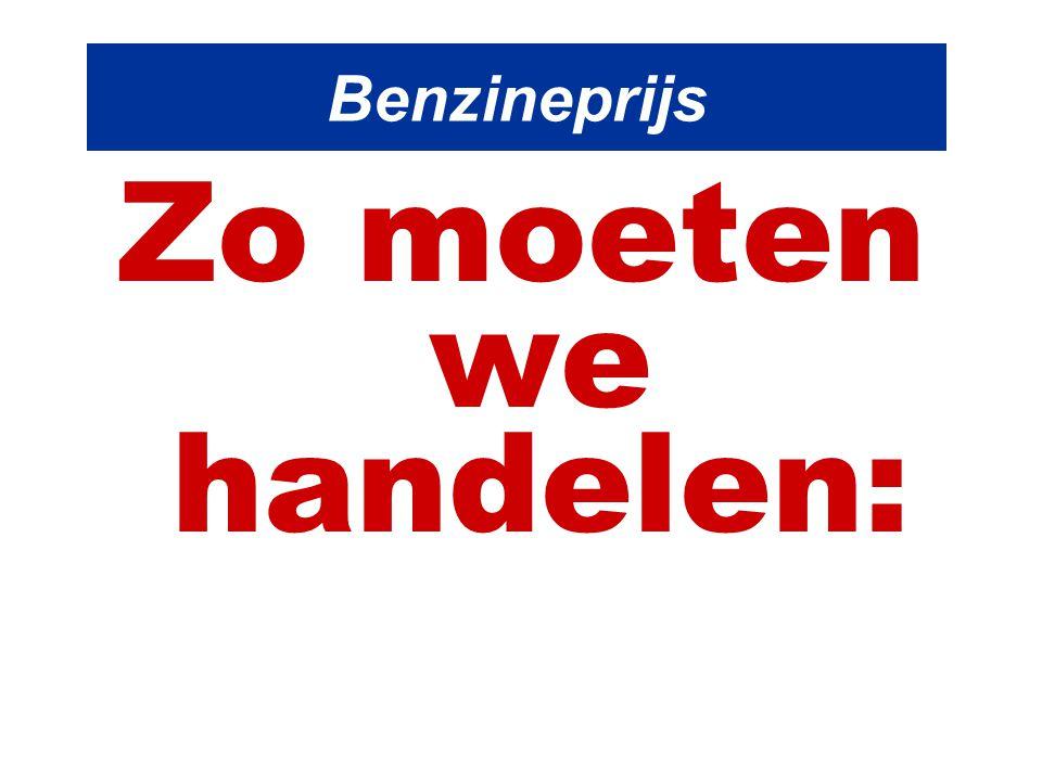 Benzineprijs Zo moeten we handelen: