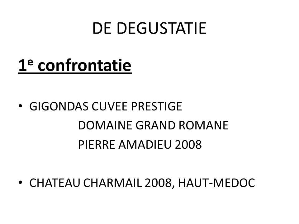 DE DEGUSTATIE 1e confrontatie GIGONDAS CUVEE PRESTIGE