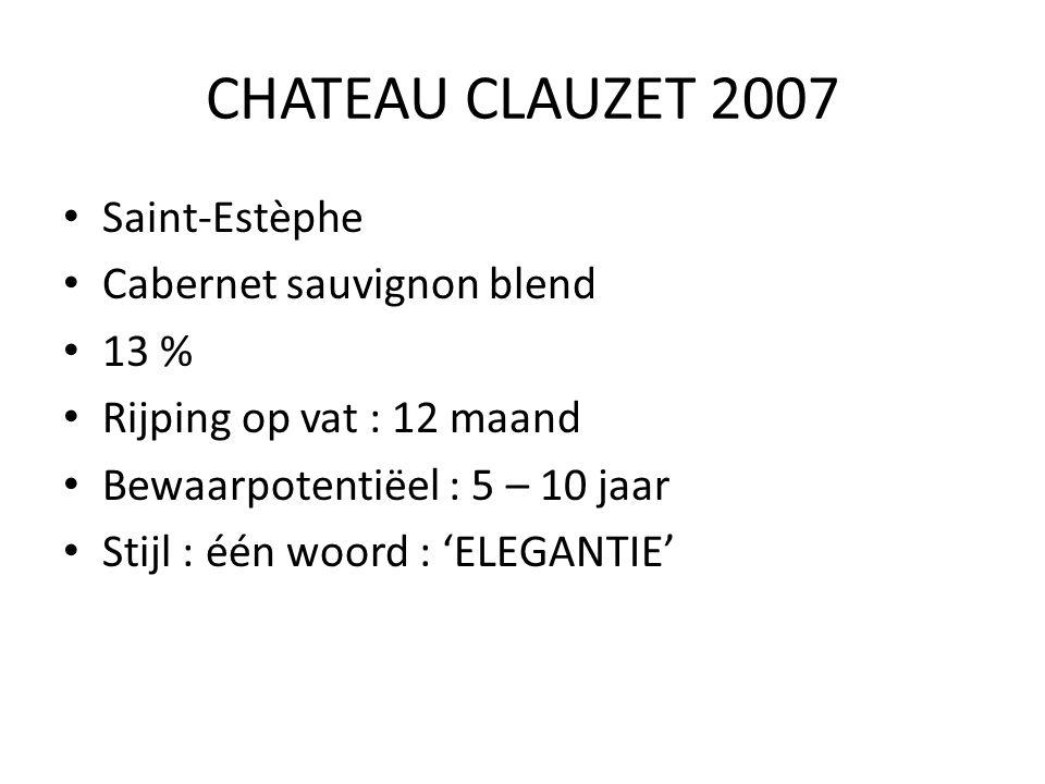 CHATEAU CLAUZET 2007 Saint-Estèphe Cabernet sauvignon blend 13 %