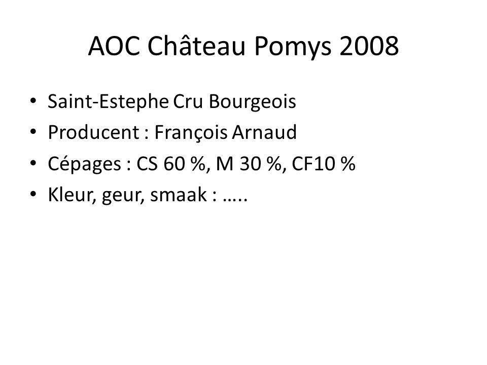 AOC Château Pomys 2008 Saint-Estephe Cru Bourgeois