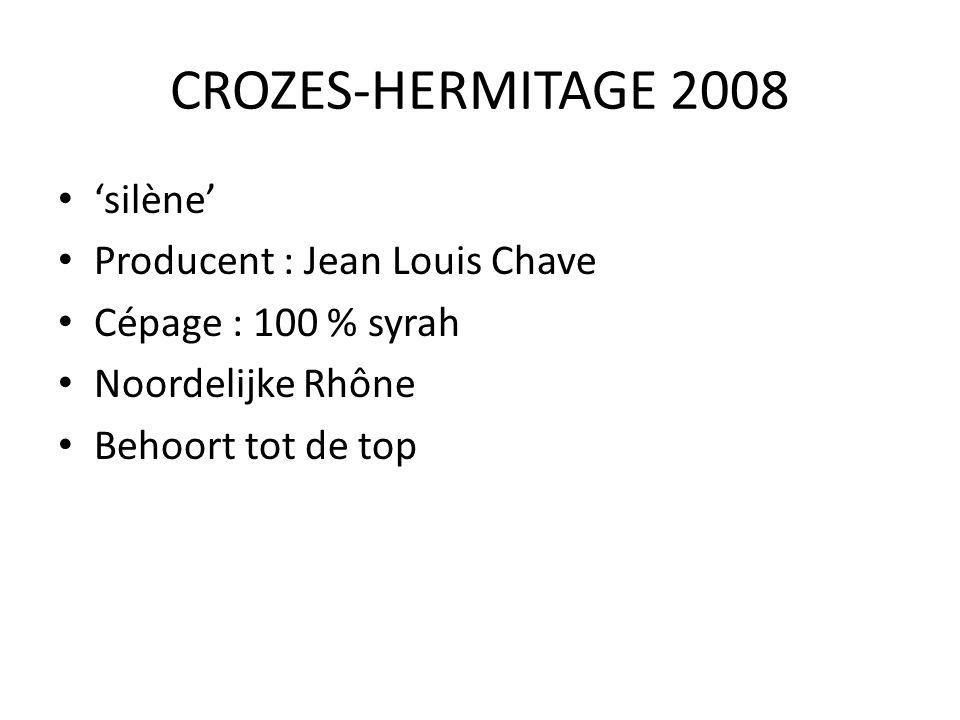 CROZES-HERMITAGE 2008 'silène' Producent : Jean Louis Chave