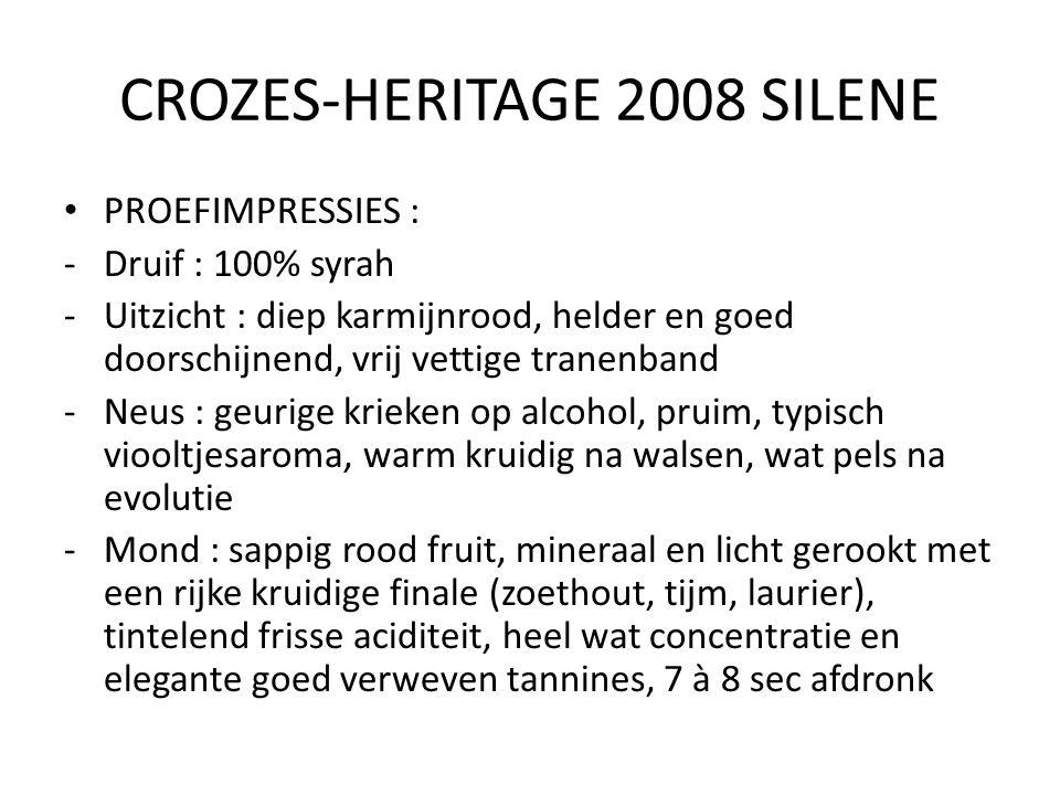 CROZES-HERITAGE 2008 SILENE