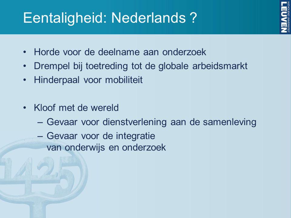 Eentaligheid: Nederlands