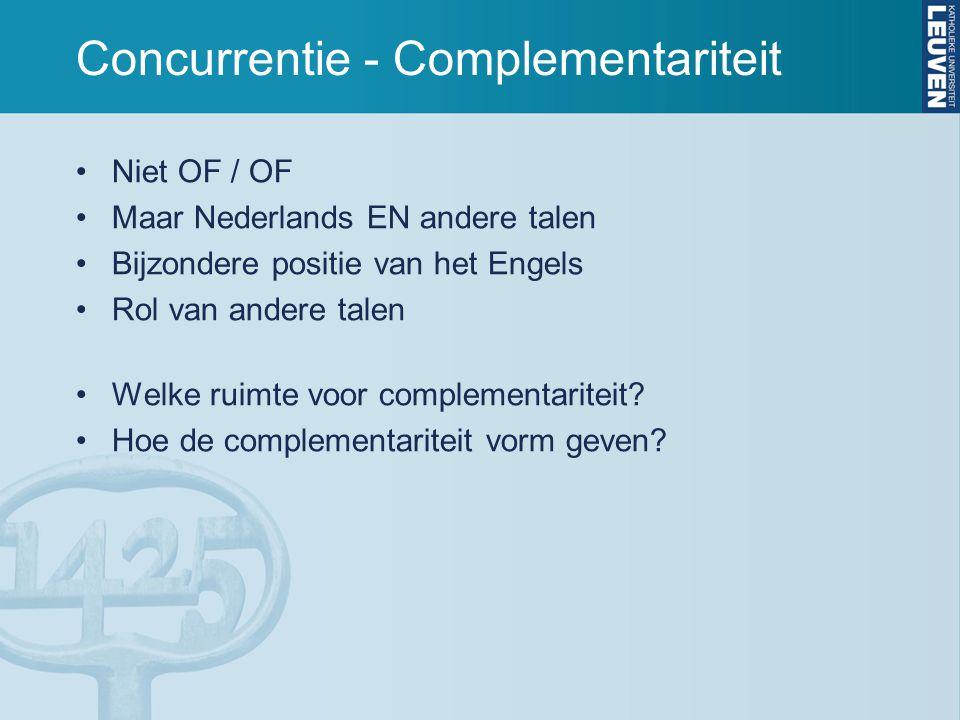 Concurrentie - Complementariteit
