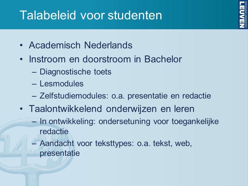 Talabeleid voor studenten