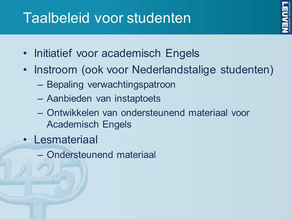 Taalbeleid voor studenten