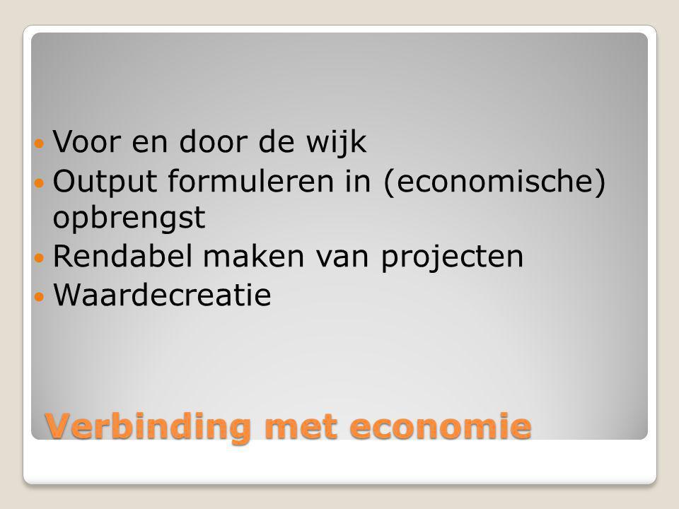 Verbinding met economie