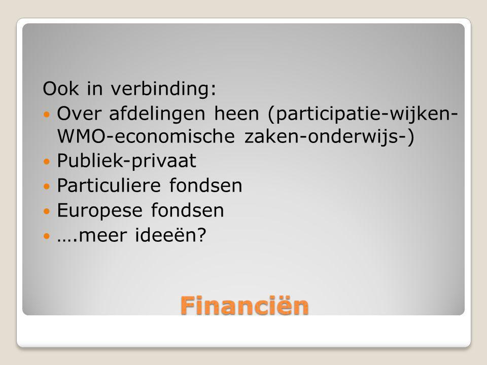 Financiën Ook in verbinding: