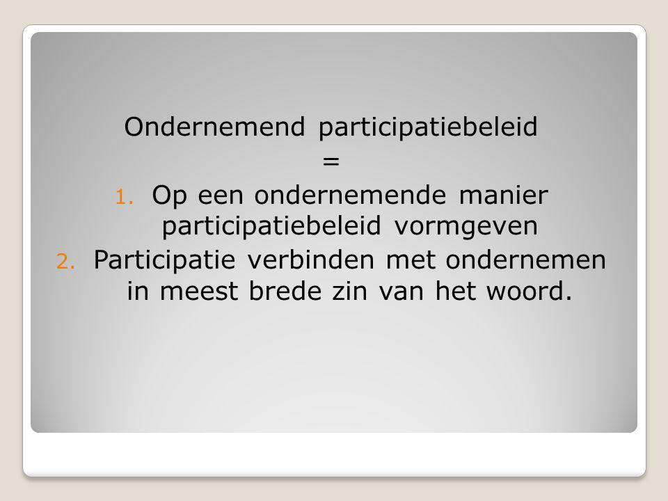 Ondernemend participatiebeleid =